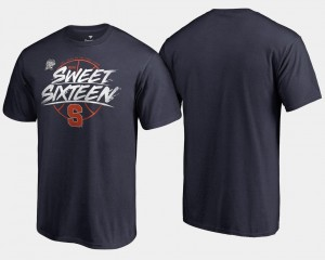 2018 March Madness Basketball Tournament Backdoor College T-Shirt Navy For Men Syracuse Orange Sweet 16 Bound
