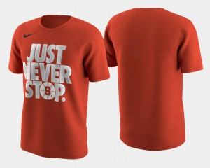 March Madness Selection Sunday Cuse Orange Mens Basketball Tournament Just Never Stop College T-Shirt Orange
