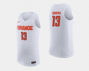 Paschal Chukwu College Jersey Basketball For Men's #13 Cuse Orange White
