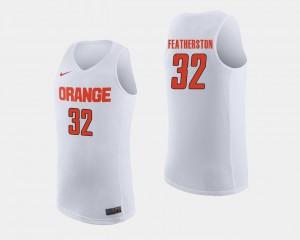 Men's Ray Featherston College Jersey Basketball Cuse White #32