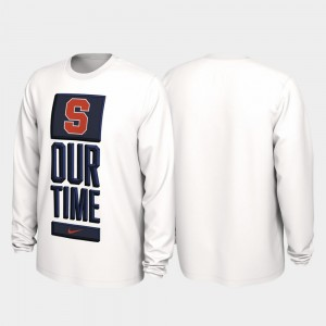College T-Shirt Mens Cuse Orange 2020 March Madness White Our Time Bench Legend