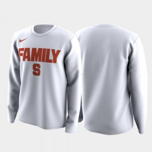 March Madness Legend Basketball Long Sleeve White Cuse Orange College T-Shirt For Men Family on Court
