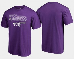 Purple TCU Horned Frogs Basketball Tournament Men's College T-Shirt 2018 March Madness Bound Airball