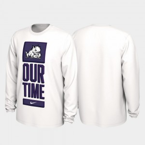 College T-Shirt 2020 March Madness For Men's Our Time Bench Legend TCU Horned Frogs White