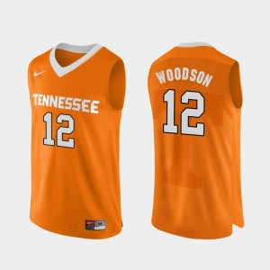 Orange Authentic Performace For Men's Brad Woodson College Jersey UT #12 Basketball