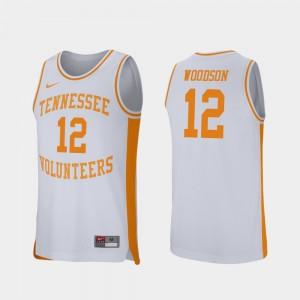 Basketball #12 Retro Performance White Tennessee Volunteers Brad Woodson College Jersey For Men
