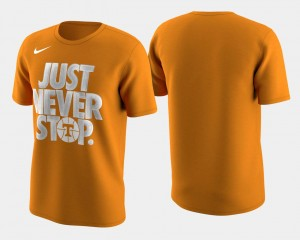 Tennessee March Madness Selection Sunday Tennessee Orange Basketball Tournament Just Never Stop For Men College T-Shirt