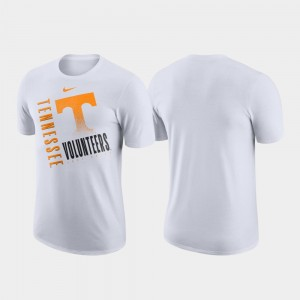 Tennessee Volunteers White Just Do It College T-Shirt Performance Cotton Men's