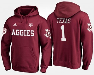 #1 No.1 For Men Maroon College Hoodie Texas A&M University