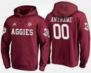 Maroon A&M Men's #00 College Customized Hoodie