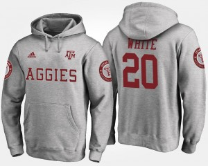 A&M #20 James White College Hoodie For Men's Gray