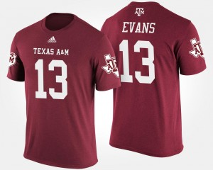 #13 Mike Evans College T-Shirt Aggie For Men's Maroon