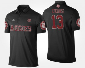 For Men Mike Evans College Polo #13 Texas A&M Black