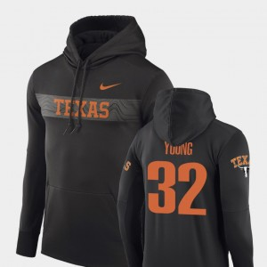 Sideline Seismic #32 Anthracite Daniel Young College Hoodie Men UT Football Performance
