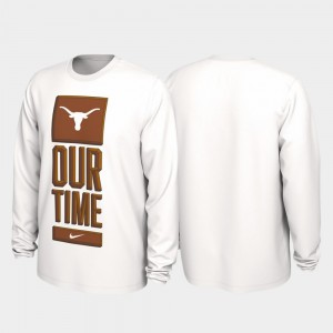 College T-Shirt Longhorns Men Our Time Bench Legend 2020 March Madness White
