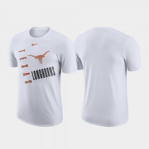 College T-Shirt For Men White Just Do It UT Performance Cotton