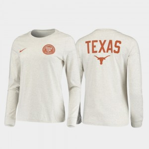 College T-Shirt Rivalry Men's Longhorns White Statement Long Sleeve