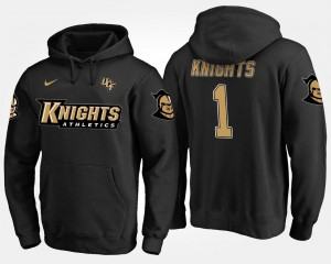 College Hoodie For Men UCF Knights #1 Black No.1