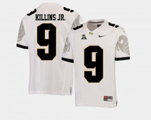 #9 Knights White For Men's Football American Athletic Conference Adrian Killins Jr. College Jersey