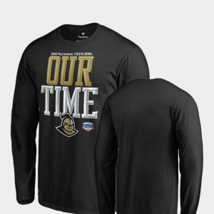 Black College T-Shirt 2019 Fiesta Bowl Bound University of Central Florida Counter Long Sleeve For Men