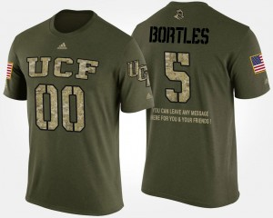 Men's Short Sleeve With Message #5 University of Central Florida Blake Bortles College T-Shirt Military Camo
