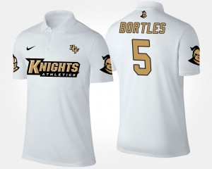 White #5 Mens UCF Knights Blake Bortles College Polo
