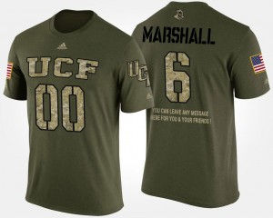 For Men UCF Military Short Sleeve With Message Brandon Marshall College T-Shirt Camo #6