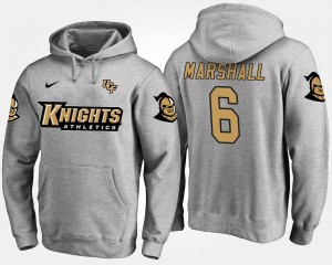 Gray Knights For Men's #6 Brandon Marshall College Hoodie