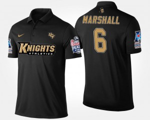 Brandon Marshall College Polo Men's #6 University of Central Florida Navy Bowl Game American Athletic Conference Peach Bowl