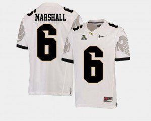 White Football UCF Knights Brandon Marshall College Jersey Men American Athletic Conference #6