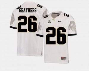 Football University of Central Florida #26 Clayton Geathers College Jersey For Men's American Athletic Conference White