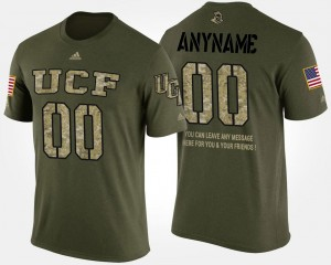 UCF Knights Military #00 Camo College Custom T-Shirts For Men Short Sleeve With Message