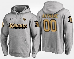 Knights Gray Mens #00 College Customized Hoodie