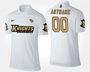 White UCF Knights For Men College Customized Polo #00