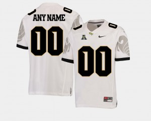 For Men's Football American Athletic Conference #00 College Customized Jersey Knights White
