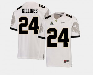 Knights American Athletic Conference White D.J. Killings College Jersey Football #24 For Men