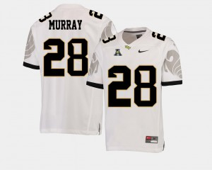 Football #28 Latavius Murray College Jersey American Athletic Conference Mens White UCF Knights