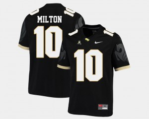 Black Knights Men's Mckenzie Milton College Jersey American Athletic Conference #10 Football