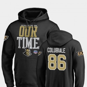 2019 Fiesta Bowl Bound For Men's #86 UCF Knights Michael Colubiale College Hoodie Counter Black