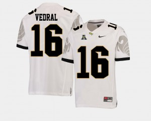 Mens Football American Athletic Conference UCF Knights White Noah Vedral College Jersey #16