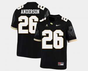 Black Mens #26 University of Central Florida Football Otis Anderson College Jersey American Athletic Conference