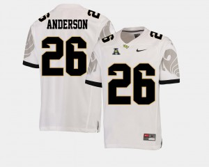 UCF American Athletic Conference #26 For Men Otis Anderson College Jersey White Football