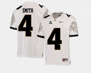 White Men's Football Tre'Quan Smith College Jersey American Athletic Conference #4 UCF