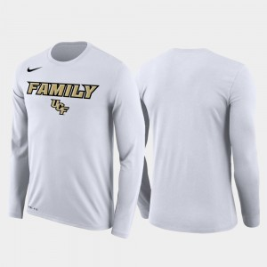 March Madness Basketball Performance Long Sleeve Knights White College T-Shirt Family on Court Mens