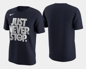 Mens College T-Shirt Basketball Tournament Just Never Stop March Madness Selection Sunday Navy Huskies