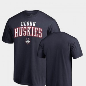 College T-Shirt Square Up Connecticut Huskies Navy For Men's