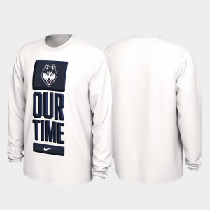 2020 March Madness Our Time Bench Legend College T-Shirt UConn Huskies For Men White