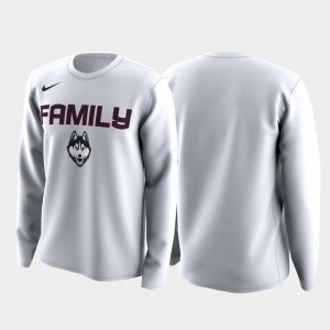 Connecticut White Family on Court March Madness Legend Basketball Long Sleeve Men College T-Shirt