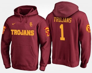 For Men #1 No.1 USC Cardinal College Hoodie