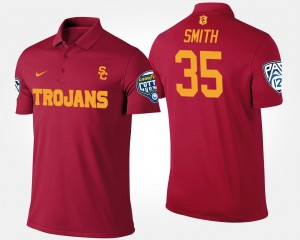 Cardinal #35 Bowl Game Pac-12 Conference Cotton Bowl For Men Cameron Smith College Polo USC Trojan